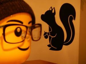 リスと眼鏡