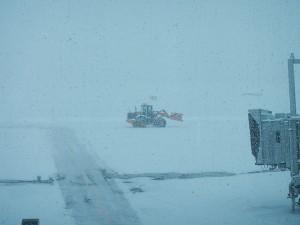 千歳空港 - 雪