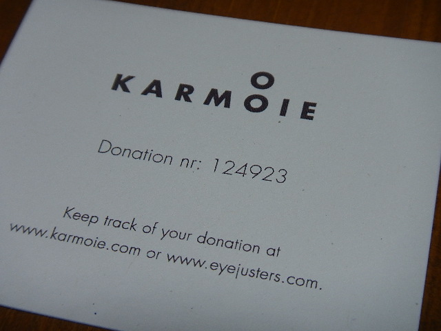 KARMOIE - Donation card