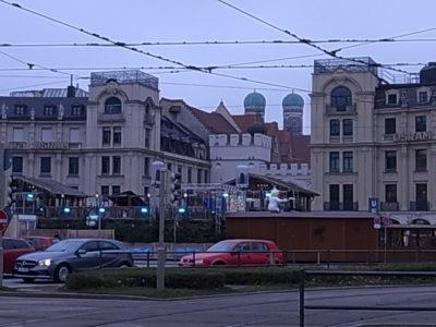 ミュンヘン市内にて
